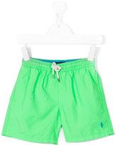 Ralph Lauren embroidered logo swim shorts - kids - Polyester - 10 yrs