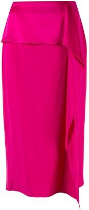 Rochas Ruffled Midi Skirt