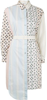 Ports 1961 Deconstructed Multi-Print Shirt Dress