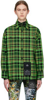 S.R. Studio. La. Ca. S.R. STUDIO. LA. CA. Green Check Oversized Shirt