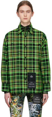 S.R. STUDIO. LA. CA. Green Check Oversized Shirt
