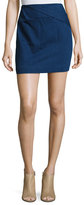 Halston Faux-Wrap Draped Mini Skirt