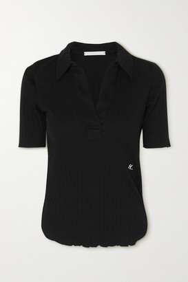 Helmut Lang Ribbed Cotton Polo Shirt