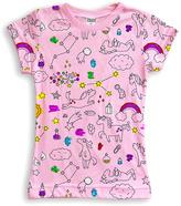 Urban Smalls Light Pink Unicorn Doodle Tee - Toddler & Girls