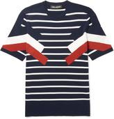 Neil Barrett - Slim-fit Striped Knitted T-shirt