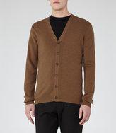 Reiss Reiss Stoke - Wool Cardigan In Brown