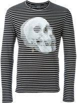 Alexander McQueen striped skull print sweatshirt - men - Cotton - XS