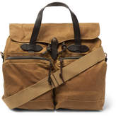 Filson Leather-trimmed Waxed Cotton-canvas Briefcase - Tan