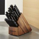 Crate & Barrel Wüsthof ® Gourmet 18-Piece Acacia Knife Block Set
