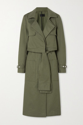RtA Harlow Cotton-gabardine Trench Coat - Army green