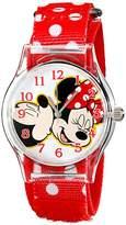 Disney Kids' W001695 Mickey Mouse, Minnie Mouse Analog Display Analog Quartz Red Watch