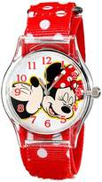 Disney Kids' W001695 Mickey Mouse, Minnie Mouse Analog Display Analog Quartz Watch
