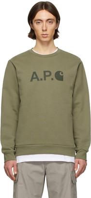 A.P.C. Khaki Carhartt WIP Edition Ice H Sweatshirt