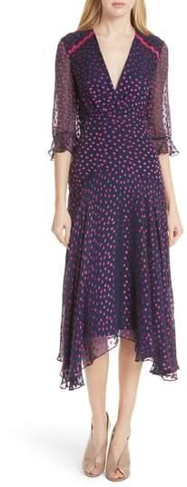 Saloni Edith Silk Blend Dress