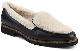 Andre Assous Women's Philipa Almond Toe Faux Fur & Leather Loafers