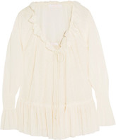 See by Chloe Ruffled Voile Blouse - White