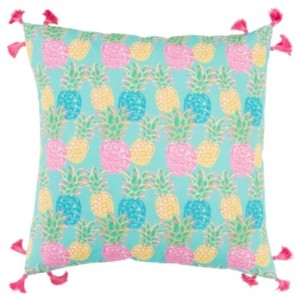 """Rizzy Home Simply Southern 18"""" x 18"""" Floral Poly Filled Pillow"""