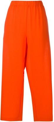 Daniela Gregis Wide-Leg Wool Cropped Trousers