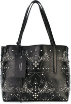 Jimmy Choo 'Twist East West' studded tote - women - Calf Leather/metal - One Size