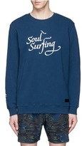 The Upside 'Soul Surfing' embroidered cotton sweatshirt