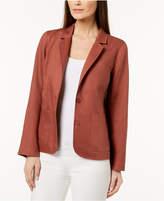 Eileen Fisher Organic Linen Two-Button Blazer, Regular & Petite