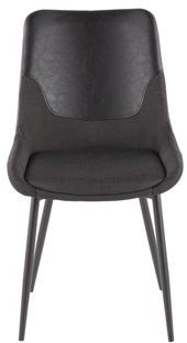 Lumisource Wayne Industrial Two-Tone Chair in Fabric and Faux Leather