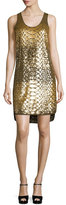 MICHAEL Michael Kors Scale Sequined Tank Dress