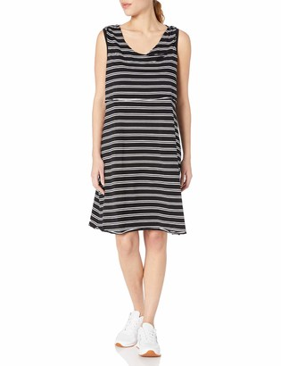 Andrew Marc Women's Plus Size and Thin Stripe Dress with Shelf Bra
