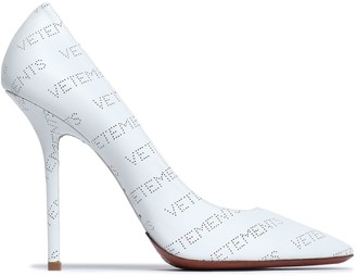 Vetements Perforated Leather Pumps