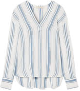 Vanessa Bruno Imade Striped Cotton-gauze Top - White