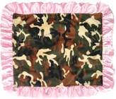 Patricia Ann Designs Satin Travel Silkie with Ruffled Trim, Camouflage with Pink