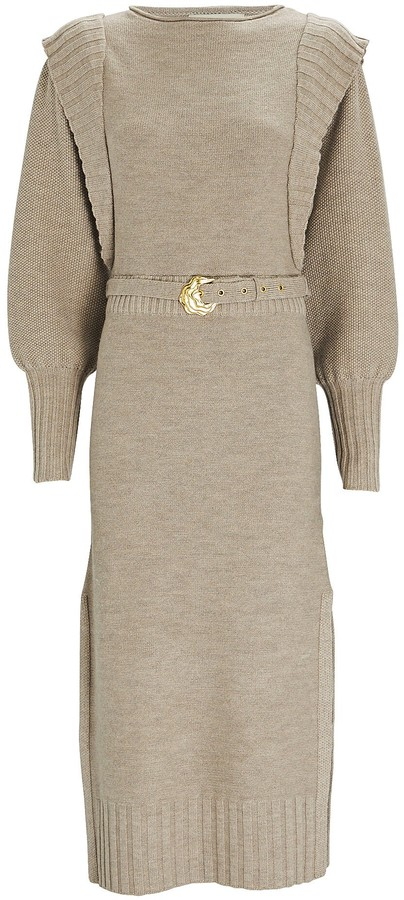 Nicholas Justine Wool Midi Sweater Dress