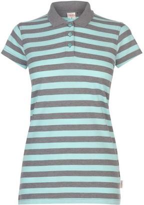 Lee Cooper Thin Stripe Polo Shirt Ladies