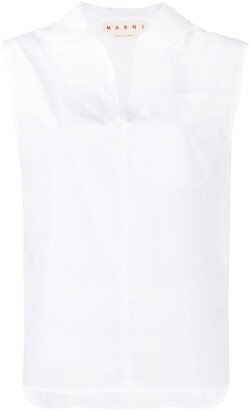Marni V-neck sleeveless shirt