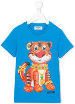 Moschino Kids - tiger print T-shirt - kids - Cotton - 10 yrs