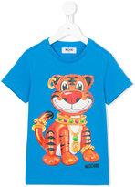 Moschino Kids - tiger print T-shirt - kids - Cotton - 8 yrs