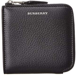 Burberry Square Leather Zip Around Wallet