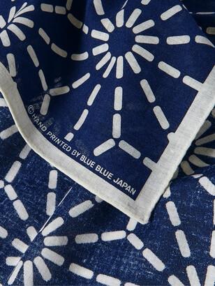 Blue Blue Japan Printed Indigo-Dyed Cotton Pocket Square