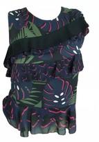 Markus Lupfer Navy Silk Top for Women