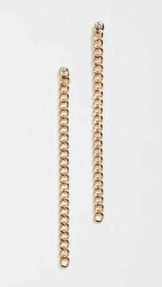 Jules Smith Designs Curb Chain Stone Earrings
