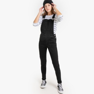 La Redoute Collections Cotton Mix Slim Fit Dungarees, 10-16 Years