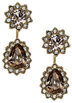 Marchesa Goldtone Brass Pear Floater Earrings