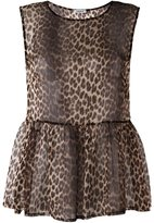 P.A.R.O.S.H. semi-sheer leopard print blouse - women - Polyester - M