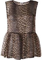 P.A.R.O.S.H. semi-sheer leopard print blouse