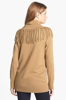 MICHAEL Michael Kors Fringed Cowl Neck Sweater
