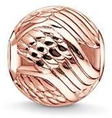 Thomas Sabo Women-Bead Angels wing Karma Beads 925 Sterling Silver 18k rose gold plating K0225-415-12