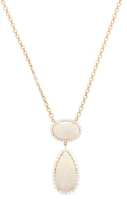 Irene Neuwirth Diamond, Opal & 18kt Rose-gold Necklace - Womens - Rose Gold