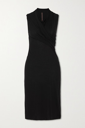 Rick Owens Abito Gathered Jersey Dress - Black