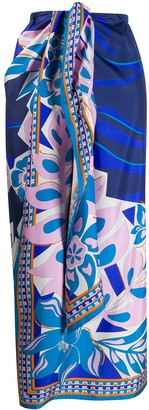 Emilio Pucci Abstract Print Knotted Waist Skirt