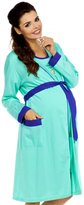 Zeta Ville Fashion Zeta Ville Maternity - Womens Nursing Nightdress Robe Set Labour Hospital 383c (, US 4/6)